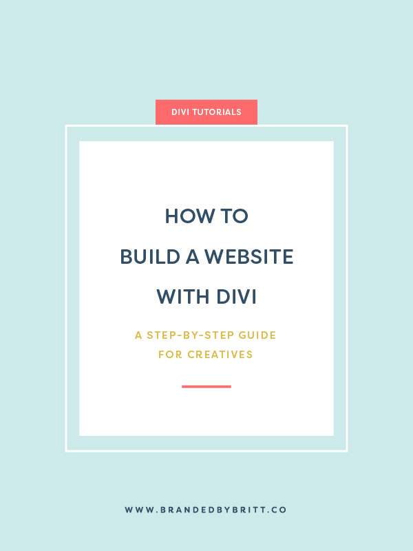 How To Build a Website With Divi