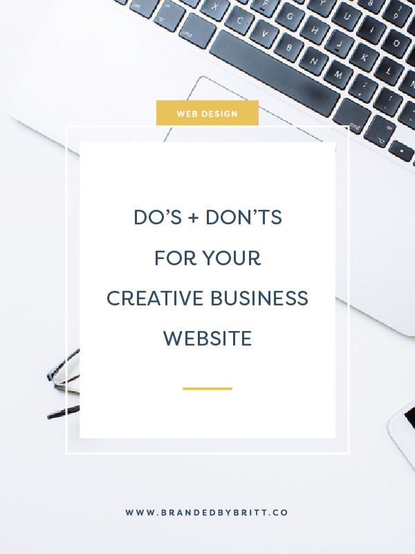 Do's and Don'ts For Your Creative Business Website
