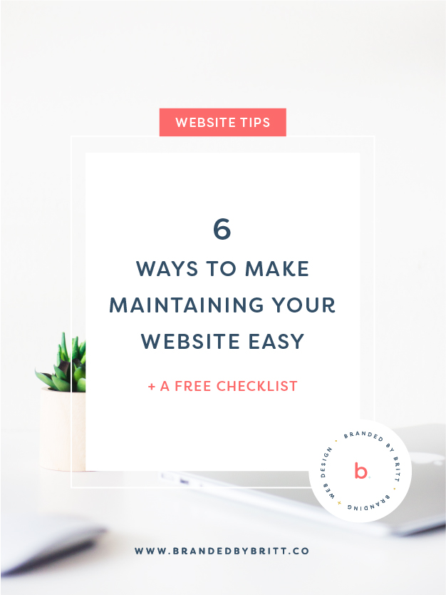 6 Ways To Make Maintaining Your Website Easy