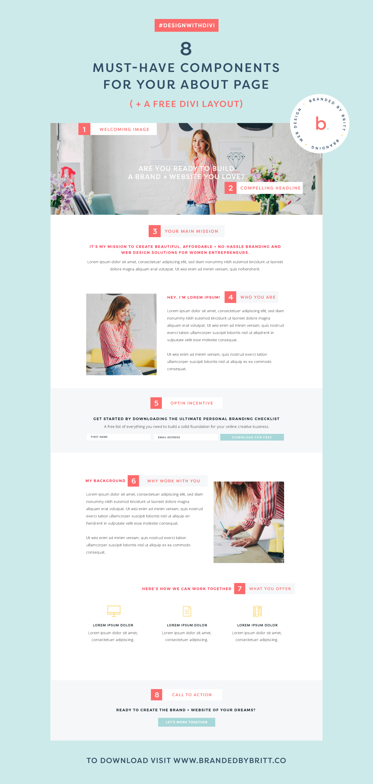 Design With Divi About Page