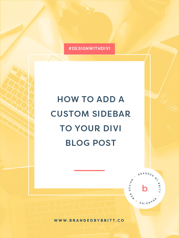 How To Add A Custom Sidebar To Your Divi Blog Post