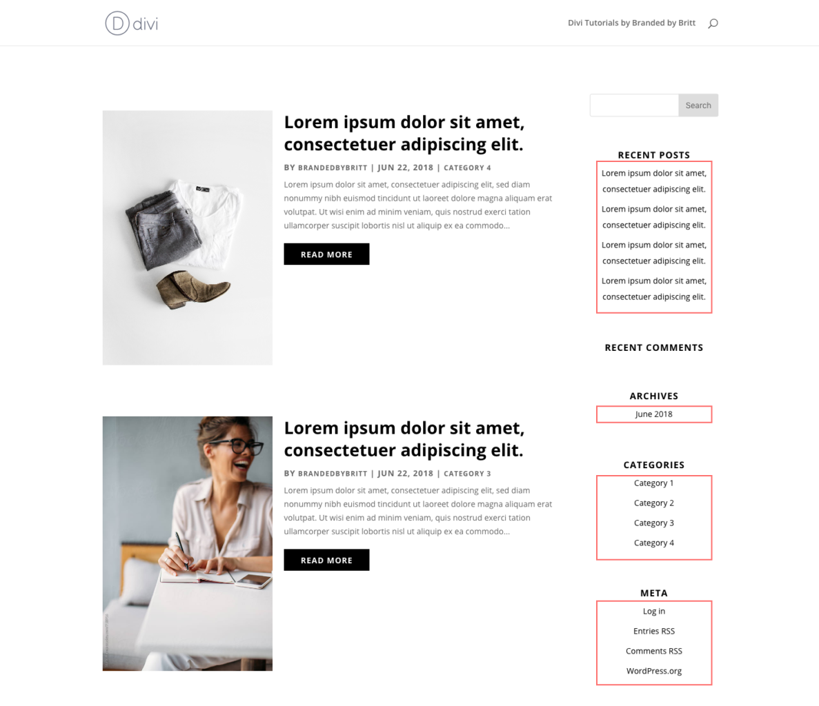 How To Style Your Divi Blog Page | Branded by Britt